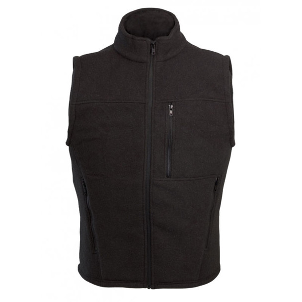 DragonWear FR Alpha Black Nomex IIIA Fleece Made in USA Vest DF20 Front