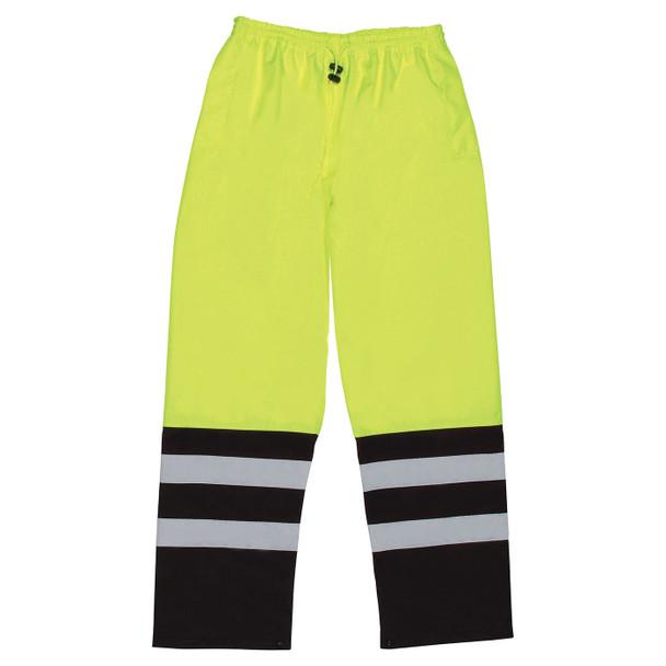 ERB Class E Hi Vis Lime Black Bottom Rain Pants S849