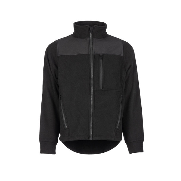 DragonWear FR Exxtreme Black Rip-Stop Nomex Super Fleece Made in USA Jacket 105010 Front