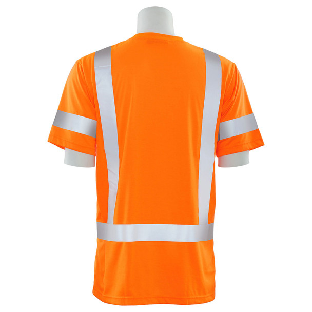 ERB Class 3 Hi Vis Orange Moisture Wicking T-Shirt 9801S-O Back