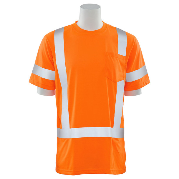 ERB Class 3 Hi Vis Orange Moisture Wicking T-Shirt 9801S-O Front