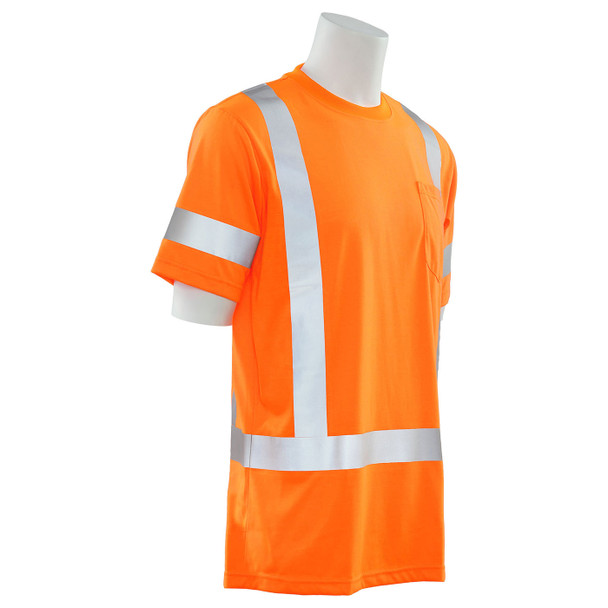 ERB Class 3 Hi Vis Orange Moisture Wicking T-Shirt 9801S-O Right Side Profile