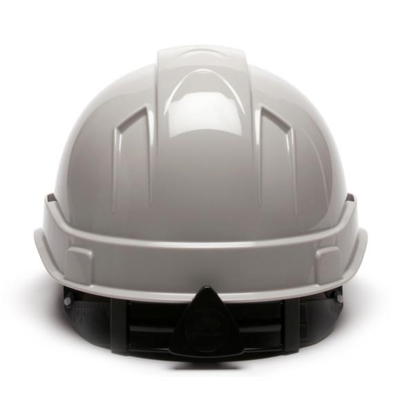 Box of 16 Pyramex Ridgeline Cap Style 4-Point Ratchet Hard Hats HP44112 Gray Back