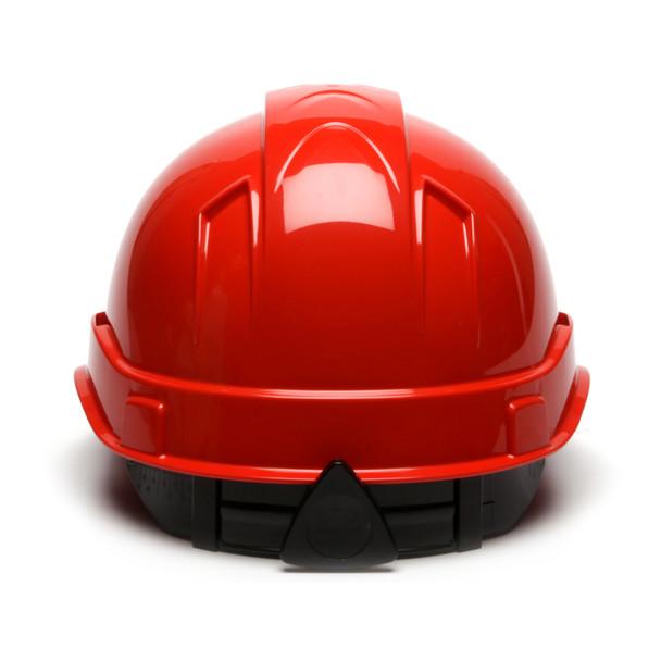 Box of 16 Pyramex Ridgeline Cap Style 4-Point Ratchet Hard Hats HP44120 Red Back