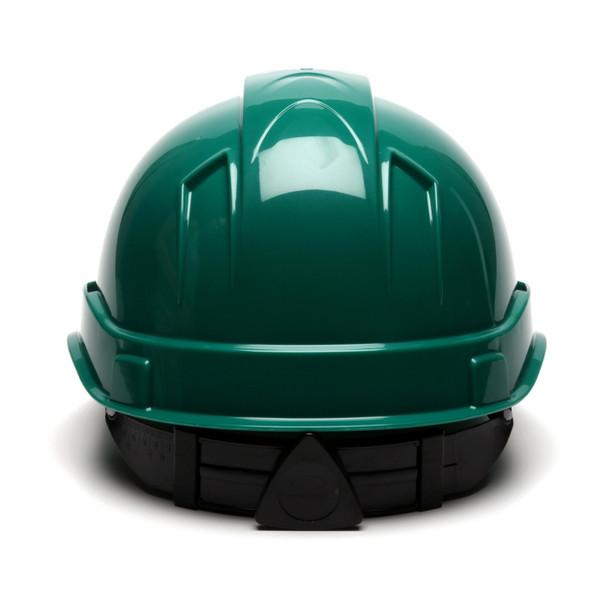 Box of 16 Pyramex Ridgeline Cap Style 4-Point Ratchet Hard Hats HP44135 Green Back