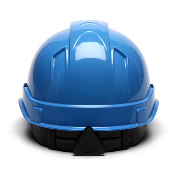 Box of 16 Pyramex Ridgeline Cap Style 4-Point Ratchet Hard Hats HP44162 Light Blue Back