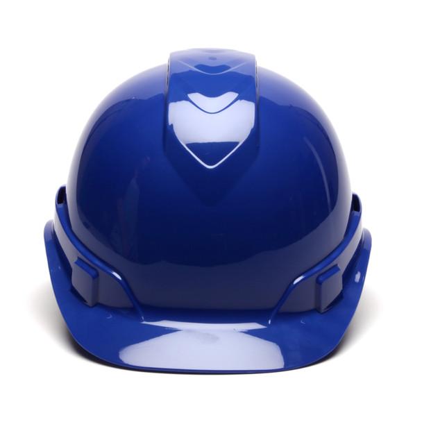 Box of 16 Pyramex Ridgeline Cap Style Vented 4-Point Ratchet Hard Hats HP44160V Blue