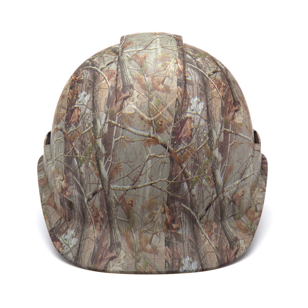 Box of 16 Pyramex Ridgeline Cap Style 4-Point Ratchet Hydro Dipped Hard Hats HP44119 Matte Camo Front
