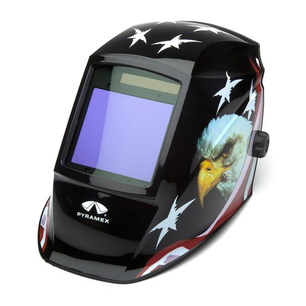 Pyramex Leadhead Auto-Darkening American Eagle Welding Helmet WHAM3030AE Side