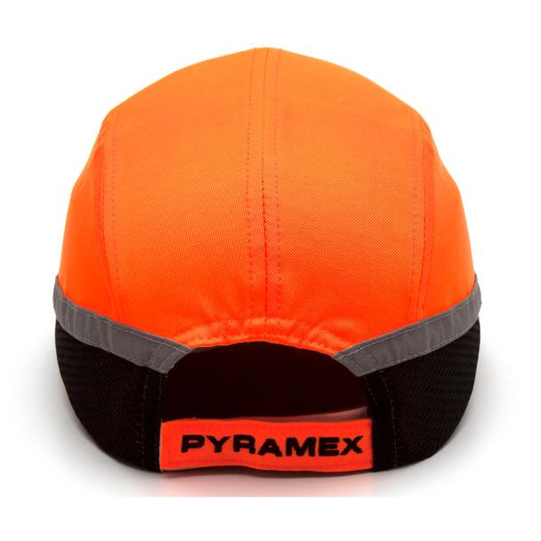 Box of 12 Pyramex Hi Vis Orange Baseball Bump Caps HP50041 Back