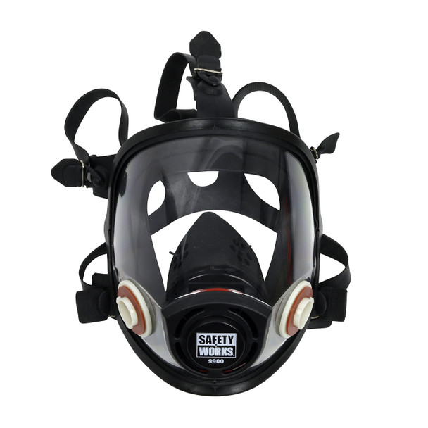 Case of 6 Safety Works Full Face Piece Respirators SWX00388 Mask