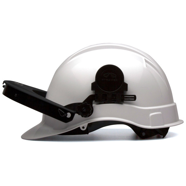 Pyramex Ridgeline Cap Style Hard Hat Face Shield Adapter HHABCMR Profile with Adapter Up