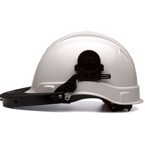 Pyramex Ridgeline Cap Style Hard Hat Face Shield Adapter HHABCMR Profile with Adapter Down