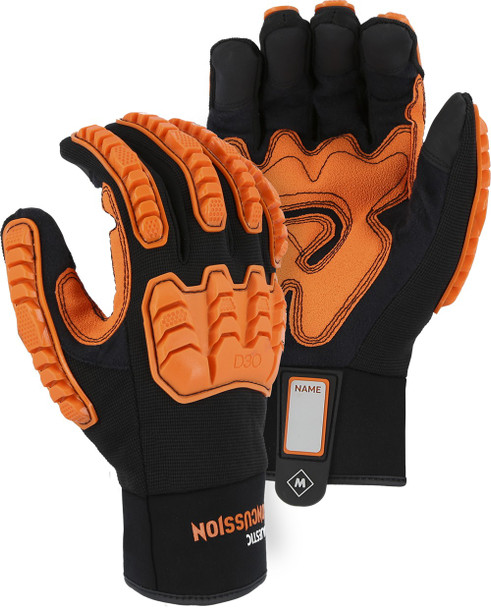 Case of 72 Pair Majestic ANSI Impact Level 2 Protection Gloves 21472BK