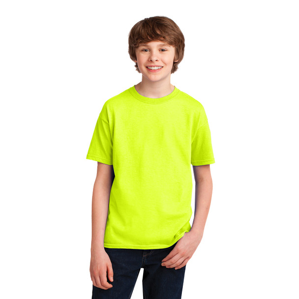 Gildan ANSI Hi Vis Safety Youth Moisture Wicking Performance T-Shirt 42000B Safety Green