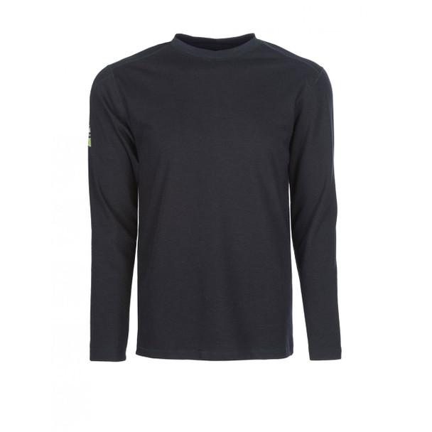 DragonWear FR Moisture Wicking Long Sleeve Navy Shirt DFH01 Front