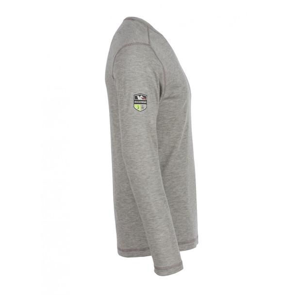 DragonWear FR Moisture Wicking Long Sleeve Gray Shirt DFH03 Side