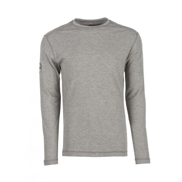 DragonWear FR Moisture Wicking Long Sleeve Gray Shirt DFH03 Front