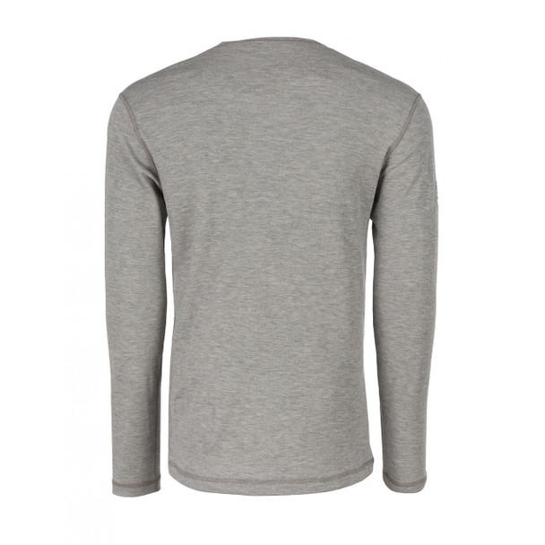 DragonWear FR Moisture Wicking Long Sleeve Gray Shirt DFH03 Back
