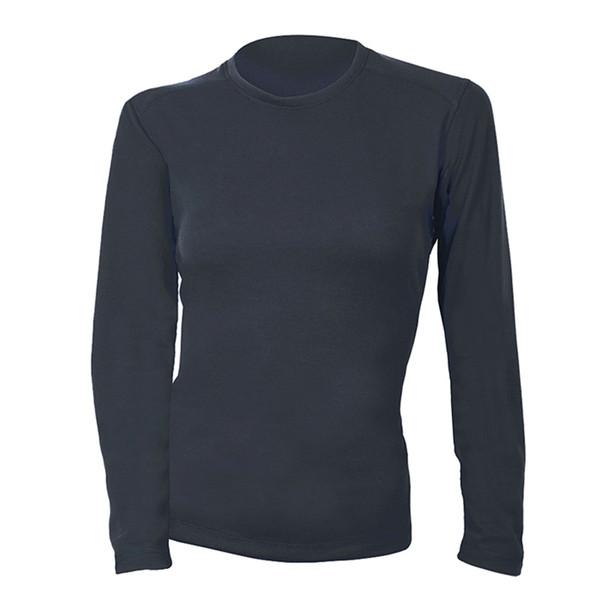 DragonWear Womens FR Moisture Wicking Navy Long Sleeve Shirt DFHW01