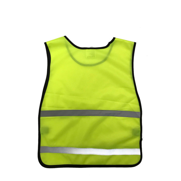 Non-ANSI Yellow Poly Tricot Youth Safety Vest SVY1500 Back