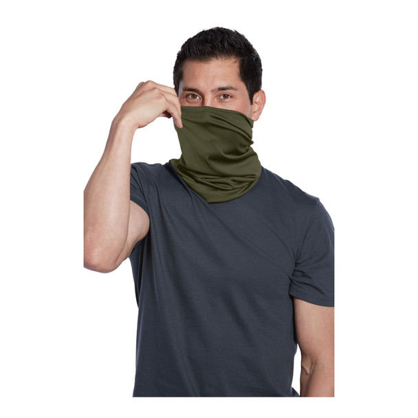 Port Authority Stretch Performance Gaiter G100 Olive Drab Green Pulled