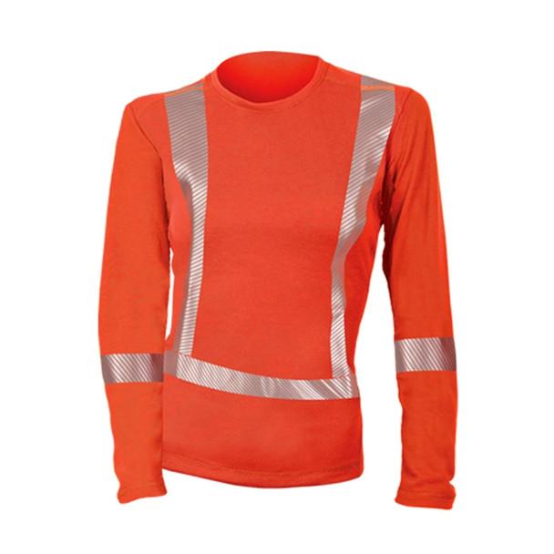 DragonWear Womens FR Moisture Wicking Orange Made in USA Shirt DFHW05