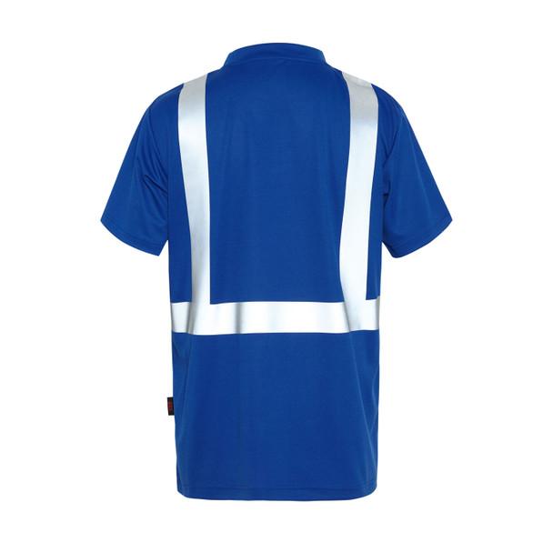 GSS Non-ANSI Hi Vis Reflective Blue with Black Bottom T-Shirt 5123 Back