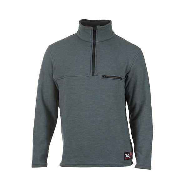 DragonWear FR Elements Dual Hazard Gray Made in USA Sweatshirt DFM23DH