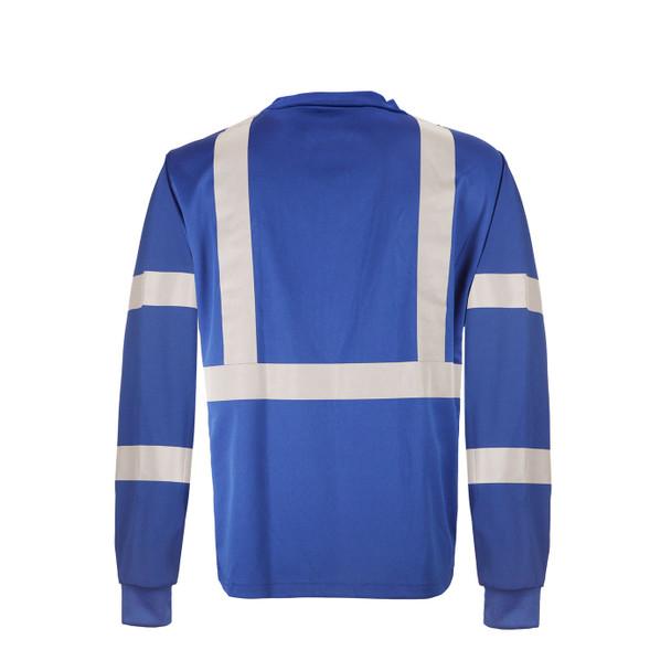 GSS Non-ANSI Hi Vis Reflective Blue with Black Bottom Long Sleeve T-Shirt 5133 Back
