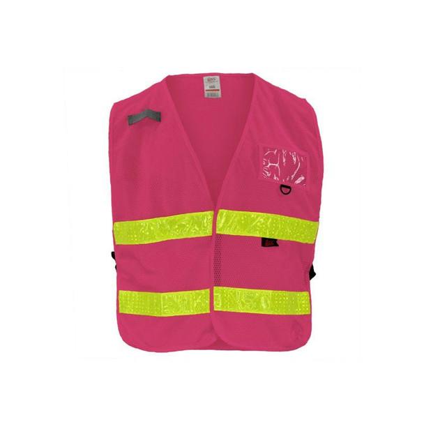 GSS Non-ANSI Enhanced Visibility Pink Adjustable Mesh Safety Vest 3119