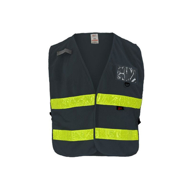 GSS Non-ANSI Enhanced Visibility Grey Adjustable Mesh Safety Vest 4112
