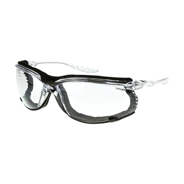 Crossfire 24Seven Foam Lined Clear Anti-Fog Safety Glasses 3854 - Box of 12