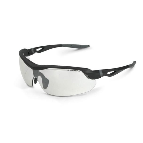 Crossfire Cirrus Matte Black Half-Frame Indoor Outdoor Lens Safety Glasses 392215 - Box of 12