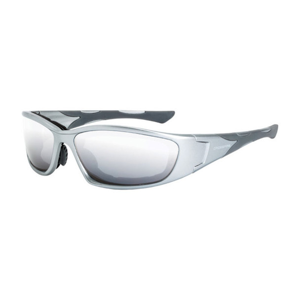 Crossfire MP7 Foam Lined Gray Frame IO Anti-Fog Safety Glasses 24615AF