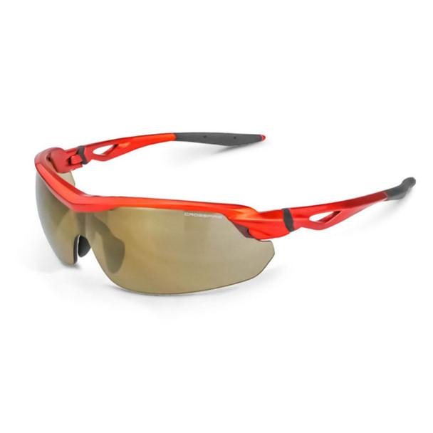 Crossfire Cirrus Burnt Orange Half-Frame Gold Mirror Lens Safety Glasses 39812 - Box of 12