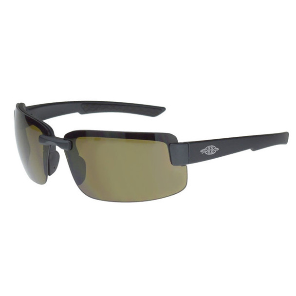 Crossfire ES6 Black Half-Frame Polarized Brown Lens Safety Glasses 440613 - Box of 12