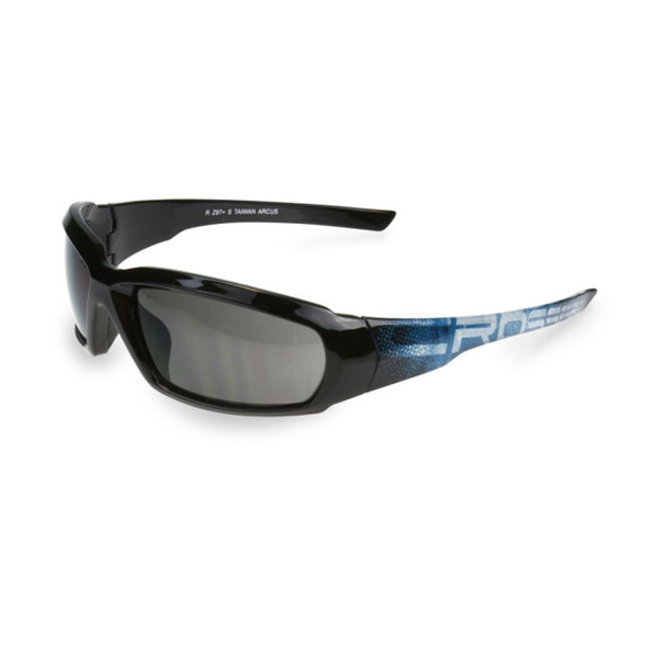 Crossfire Arcus Black Frame Smoke Lens Safety Glasses 450501 - Box of 12