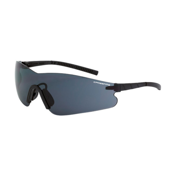 Crossfire Blade Frameless Black Anti-Fog Smoke Lens Safety Glasses 3021AF - Box of 12