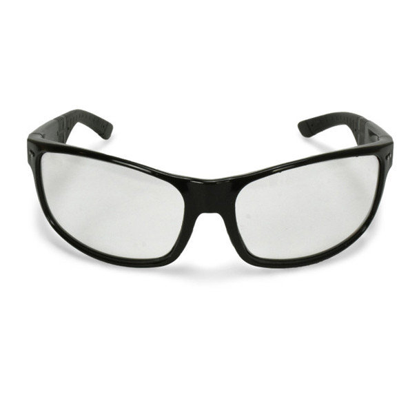 Crossfire CK7 Shiny Black Frame Clear Lens Safety Glasses 460604 - Box of 12