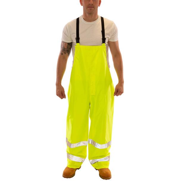 Tingley Class E Hi Vis Yellow Vision Rain Overalls O23122 Front