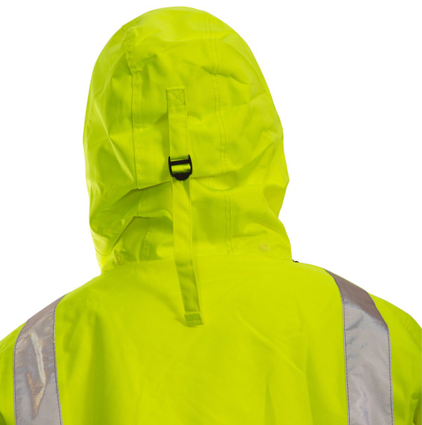 Tingley Class 3 X-Back Two-Tone Reflective Black Bottom Icon Jacket J24122C Hood