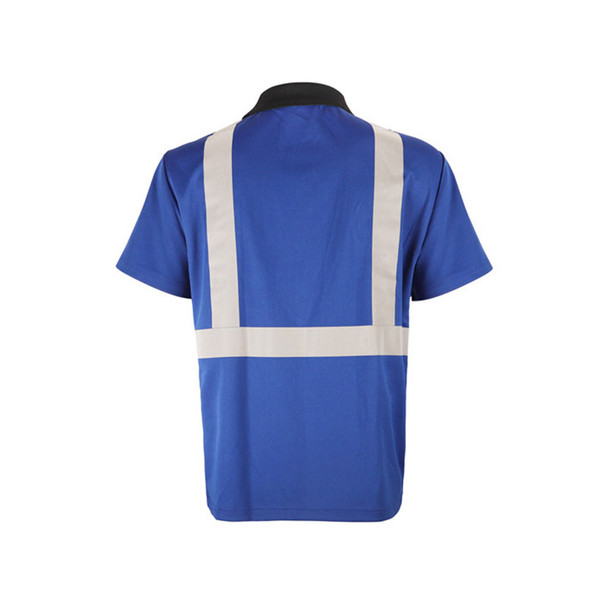 GSS Non-ANSI Enhanced Visibility Blue Black Bottom Short Sleeve Polo 5023 Back