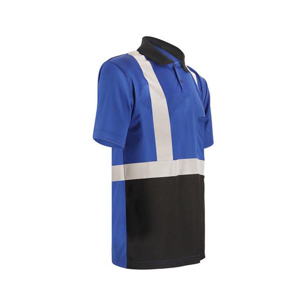GSS Non-ANSI Enhanced Visibility Blue Black Bottom Short Sleeve Polo 5023 Right Side