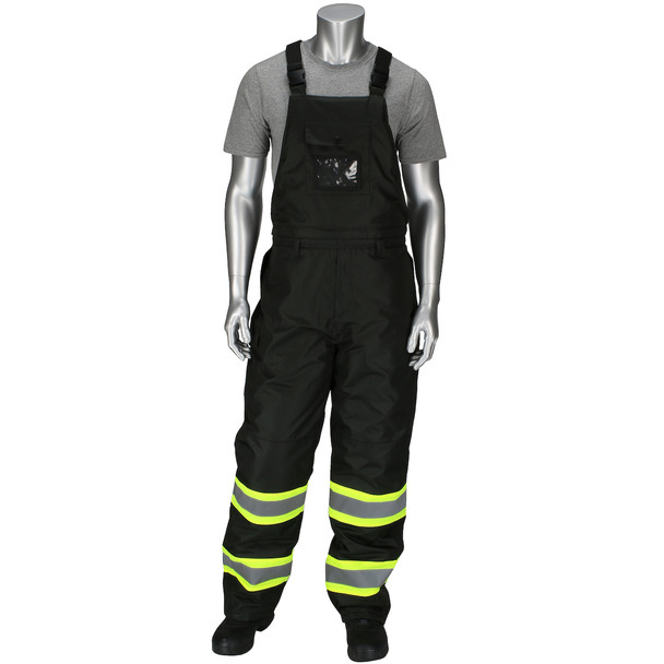 PIP Enhanced Visibility Two-Tone Insulated Black Bib Overalls 318-1780-BK with Bib