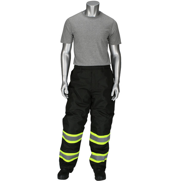 PIP Enhanced Visibility Two-Tone Insulated Black Bib Overalls 318-1780-BK without Bib