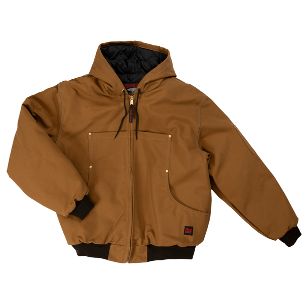 Tough Duck Premium Cotton Duck Hooded Bomber Jacket 5123 Brown Front