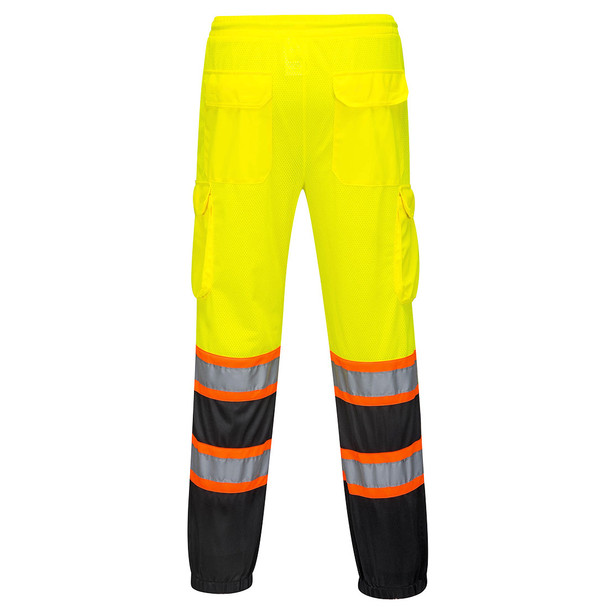 PortWest Class E His Yellow Black Bottom Mesh Overpants US388 Back