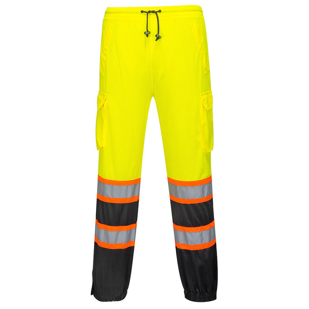 PortWest Class E His Yellow Black Bottom Mesh Overpants US388 Front