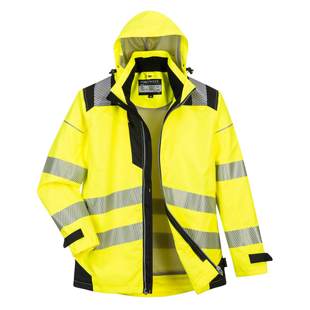 PortWest Class 3 Hi Vis Yellow 3-in-1 Jacket PW365 Front